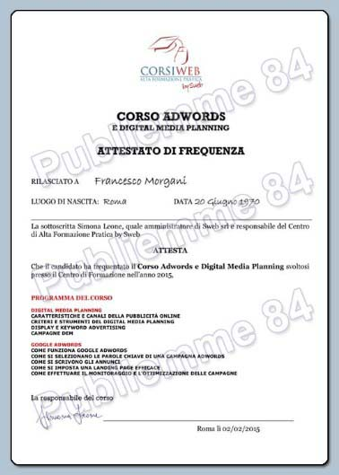 Competenze AdWords web agency Roma